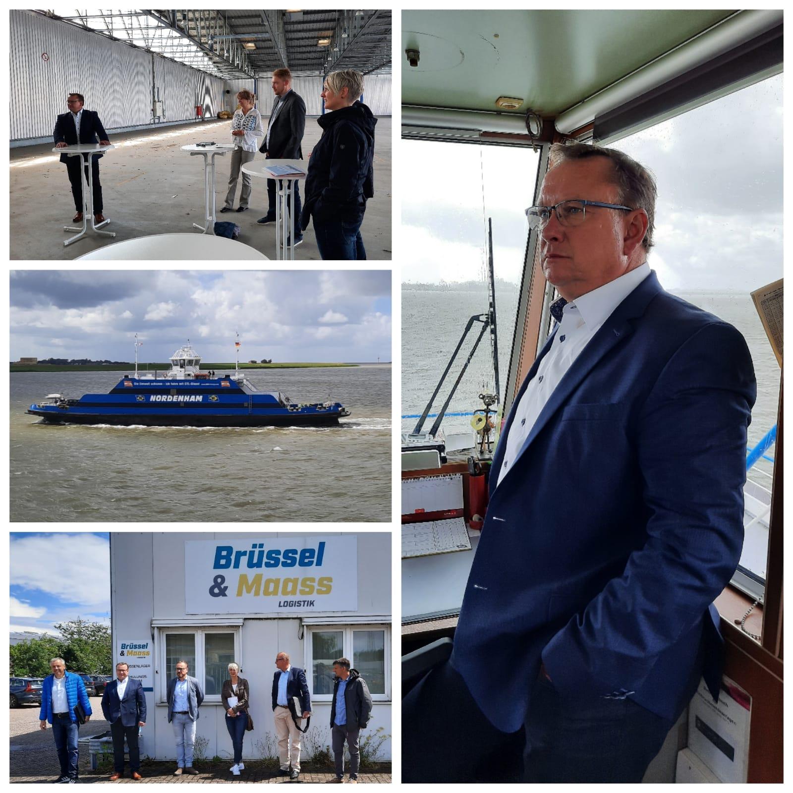 Uwe Schmidt auf der Weserfähre, bei Brüssel uns Maas, im IWES